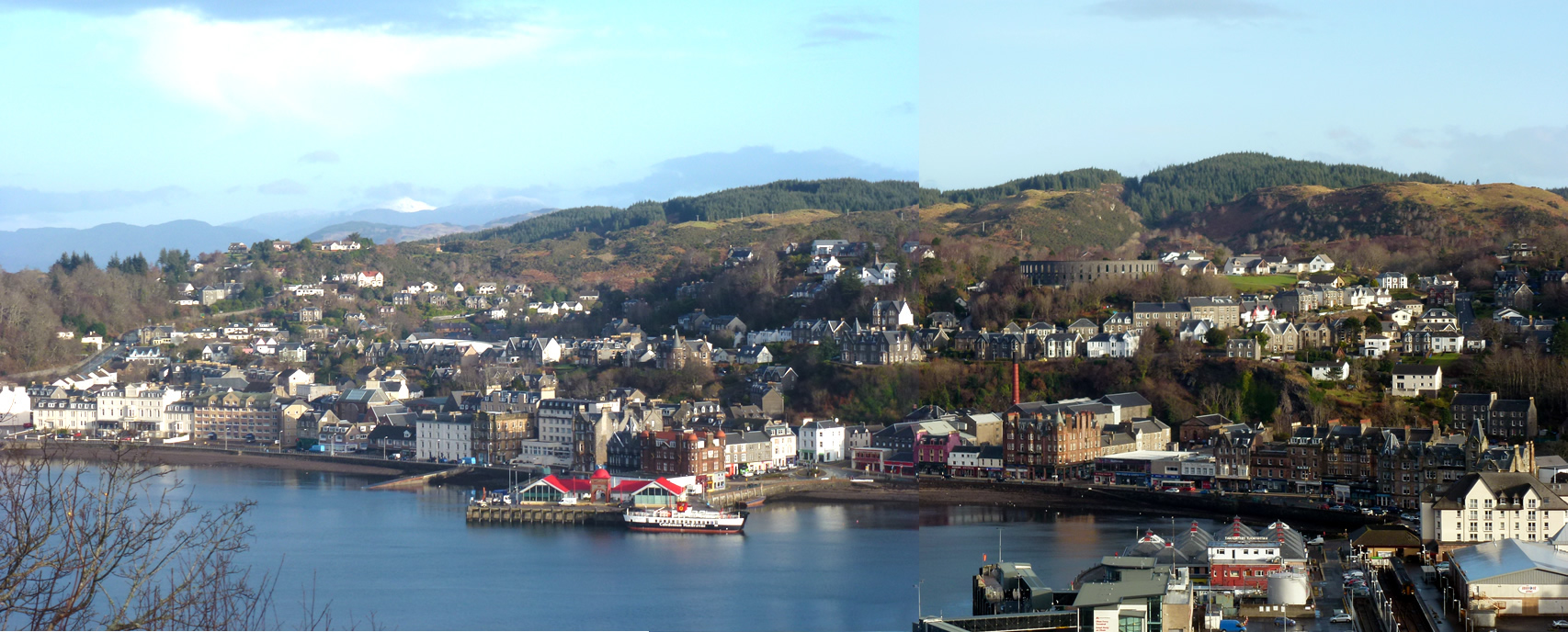 Viewpoint over Oban Bay